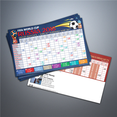 World Cup Soccer Schedule Postcard