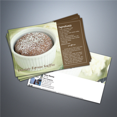 Cooking Series Postcard 025 - Chocolate Espresso Souffles