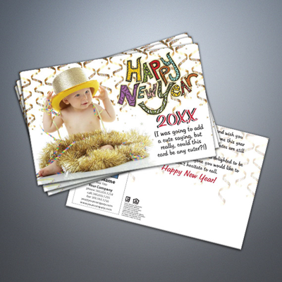 Happy New Year 004 Baby Postcard