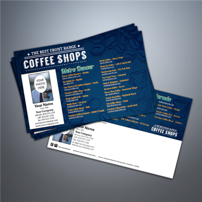 Colorado Coffee Shops Postcard