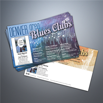 Denver Blues & Jazz Clubs Postcard