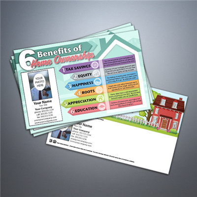 Benefits to Home Ownership Postcard