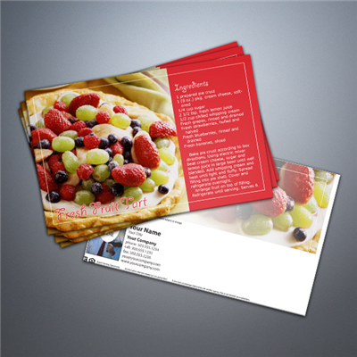 Cooking Series Postcard 031 - Fresh Fruit Tart