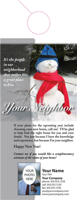 Your Neighbor Door Hanger 001 Snowman