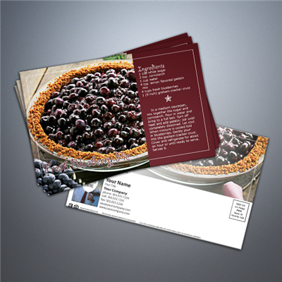 Cooking Series Postcard 006 - Fresh Blueberry Pie