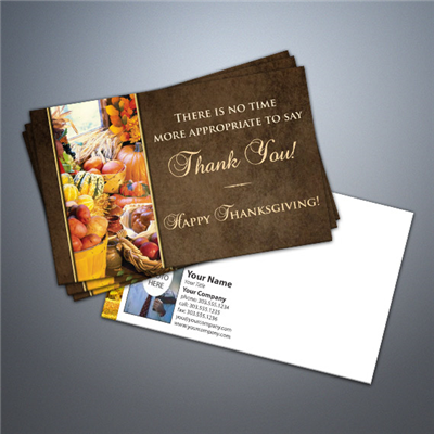 Thanksgiving - Thank You 2 Postcard