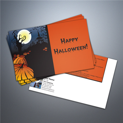 Halloween Trick or Treat Safety Tips Postcard
