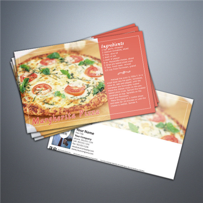 Cooking Series Postcard 016 - Margherita Pizza