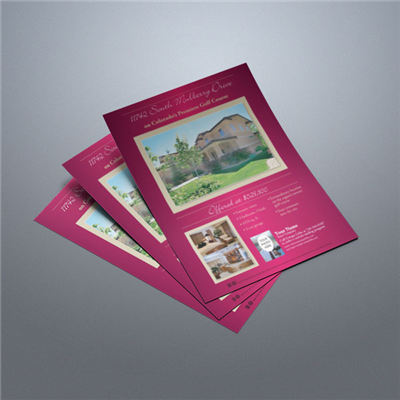 Property Flyer 014 (Burgundy)
