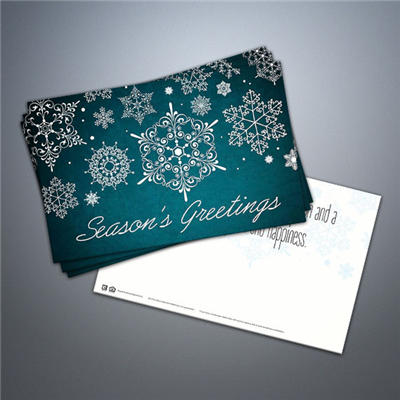 Seasons Greetings Snowflake Postcard