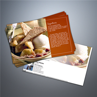Cooking Series Postcard 012 - Caramelized Apples & Cranberries