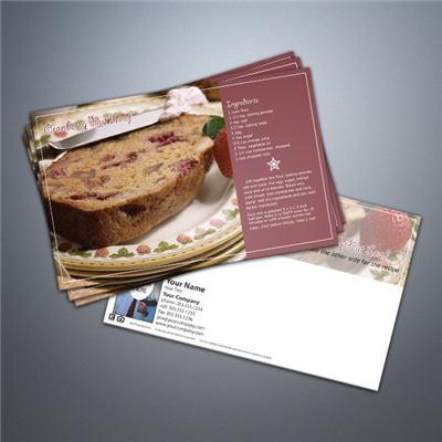 Cooking Series Postcard 010 - Cranberry Nut Loaf