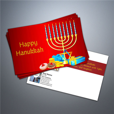 Happy Hanukkah 3 Postcard