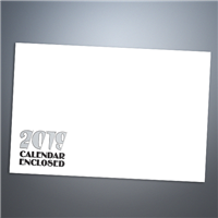 "9"" x 12"" Calendar Envelope, Black & White"